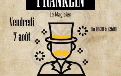Restaurant à Lannion – Spectacle de magie avec Franklin au Breizh Shelter
